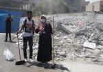 صور: حنعمّرها..مبادرة شبان بغزة لإزالة ركام العدوان