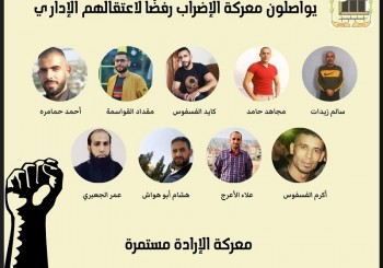 الأسرى المضربون عن الطعام رفضًا لاعتقالهم الإداري